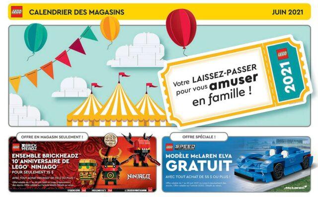LEGO Store Calendar Juin 2021