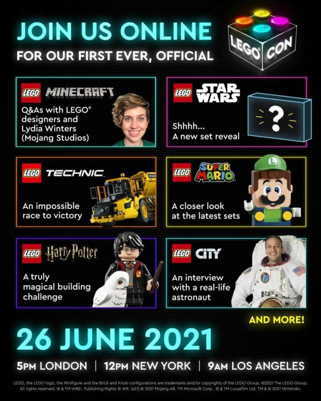 LEGO CON 2021 programme