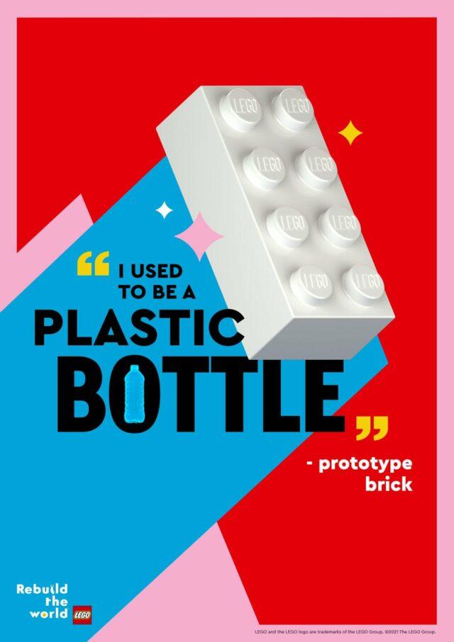 LEGO brique plastique PET recyclé