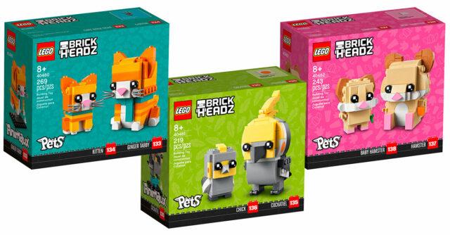 LEGO BrickHeadz Pets 2021 40480 40481 40482