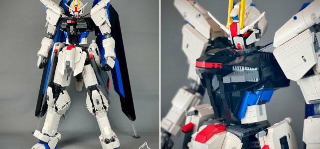 Freedom Gundam vs. Cardboard Gundam
