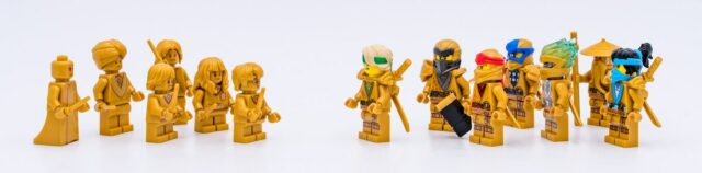 Golden LEGO Ninjago Harry Potter minifigures