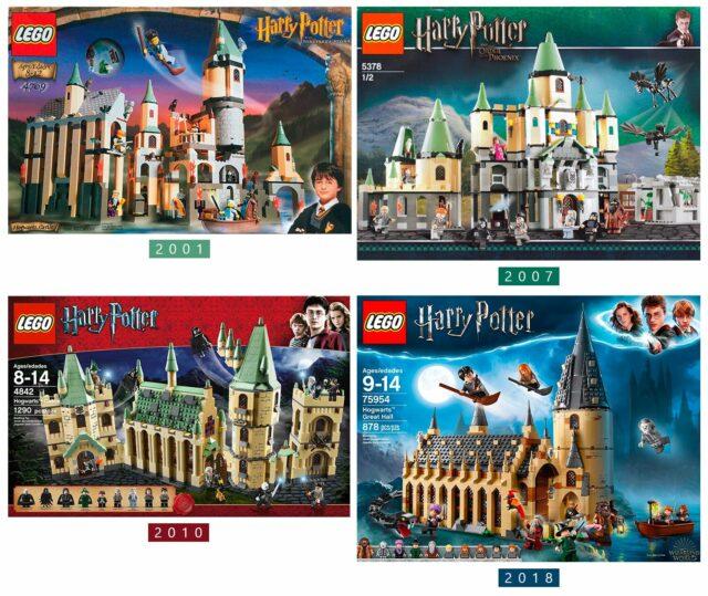 LEGO Hogwarts Castle evolution