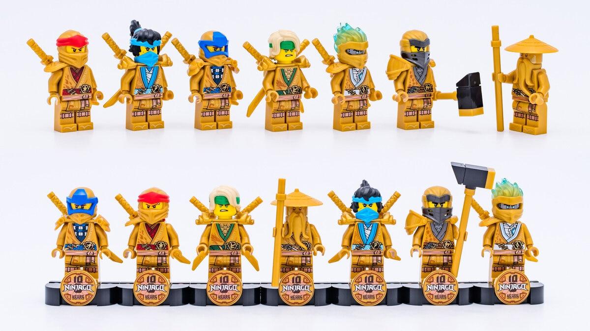 LEGO Ninjago 10 golden minifigures 2021
