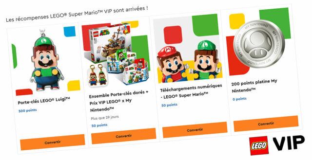 LEGO Super Mario VIP Nintendo rewards