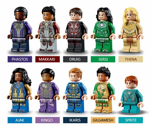 LEGO Marvel Eternals minifigures